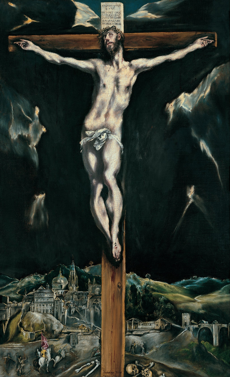 Crucifixion with View of Toledo